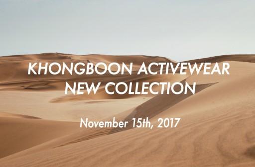 KHONGBOON ACTIVEWEAR 先行予約販売開始!